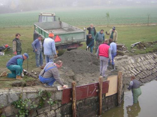 oprava rybníka 2008
